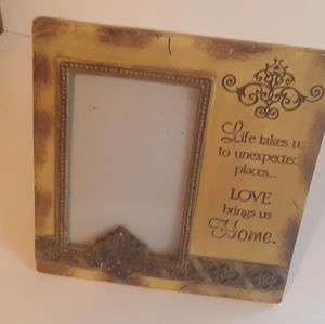 """""""Love Brings Us Home"""" Picture Frame"""